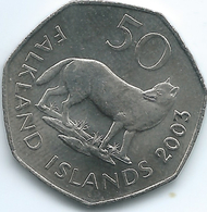 Falkland Islands - Elizabeth II - 2003 - 50 Pence - KM135 - Scarce - Malvinas
