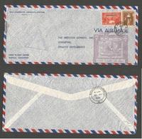 PHILIPPINES. 1941 (9 May) Manila - Singapore. Air First Flight Multifkd Envelpe + Sing Censor Cachet. - Philippines