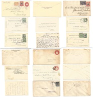 PANAMA. 1912 - 33. 9 Diff Stationaries Cards Or Envelopes. Mail To Germany. Some Adtl Fkgs VF Group + Diff Cancels. One - Panama