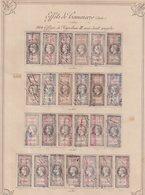 FRANCE : FISCAUX . EFFETS DE COMMERCE . TYPE NAPOLEON III . N° 26/50 . N° 51/75 . OBL  .( CATALOGUE YVERT ) . - Revenue Stamps