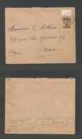 MARRUECOS - British. 1936 (1 July) BPO. Casablanca - Oran, Algeria. Fkd Envelope 50c Ovptd Issue, Cds, Margin Border. Re - Morocco (1956-...)