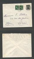 MARRUECOS - British. 1937 (20 April) BPO, Casablanca - Algeria, Oran. Mixed Issues, Ovptd, 50c Rate. Nice Item + Better - Morocco (1956-...)