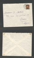 MARRUECOS - British. 1937 (7 May) BPO, Casablanca - Algeria, Oran. Fkd Envelope. 50c Ovptd Issue. Fine + Better Destinat - Morocco (1956-...)