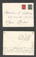 MARRUECOS - British. 1936 (28 May) BPO, Casablanca - Algeria, Oran. Fkd Envelope, Ovptd Issue. Better Destination Via Gi - Morocco (1956-...)