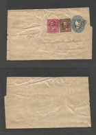 USA - Stationery. C. 1896. Cincinnati, OH - Germany, Frankfurt. 1c Blue Stat Wrapper + 2 Adtls, Tied Oval Town Name. Lov - Unclassified