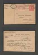 YUGOSLAVIA. 1929 (28 Nov) Belgrad - Frankfurt, Germany. 1 1/2 Dinar Red Stat Card. VF. - Non Classés