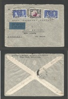 BC - Kenya. 1937 (1 Jan) Tucuyu - Germany, Bad Buckow. Via Mbeya (10 Jan) Air Multifkd Envelope 110c Rate, Incl Coronati - Unclassified