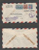 HONDURAS. 1942 (18 Nov) San Pedro Sula - Belize, British Honduras (Nov 19) Air Multifkd Envelope. Interesting Destinatio - Honduras