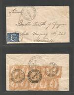 URUGUAY. 1906 (5 June) Estacion Rodriguez - Montevideo Simple 5c Full Fkd Env. Very Scarce Village Usage. - Uruguay