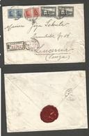 URUGUAY. 1931 (7 Çmay) Montevideo - Switzerland, Lucern (30 May) Registered Multifkd Envelope. - Uruguay