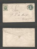 ECUADOR. 1899. Quito - Guayaguil. 5c Green Stat Envelope. Fine Used. Very Nice Condition. - Ecuador