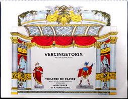 Ancien Découpage Théâtre De Papier - Gaulois VERCINGÉTORIX Pièce 4 Actes (décor, Personnage, Dialogue Scénario...) - Old Paper