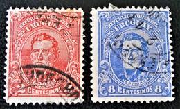GENERAL JOSE ARTIGAS 1912 - OBLITERES - YT 201 + 206 - Uruguay