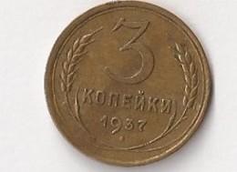 RUSSIE 3 Kopecks 1937 - Russia