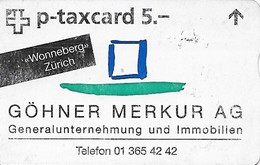 PTT P: KF-265D 622L Göhner Merkur AG, Wonneberg Zürich - Svizzera
