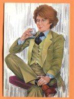SPR544, Homme En Veston Buvant Un Verre, Illustrateur, Fantaisie, GF, Circulée 1982 Sous Enveloppe - Uomini