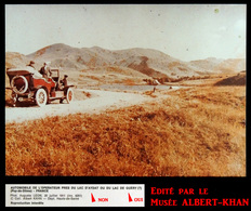AUVERGNE : 1911 Lac De GUERY Dans Le Puy-de-Dôme - Tirage Officiel D'un Autochrome Par Musée ALBERT KHAN - Automobiles