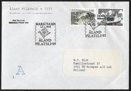 1993 - ALAND - FDC/Cover - Michel 24 [1987] + 68 [1993] + MARIEHAMN - Aland