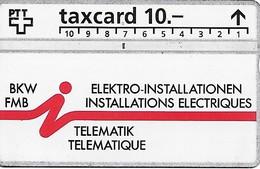 PTT: K-93/121B 430L BKW Elektro-Installationen, Telematik - Schweiz