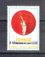 Sri Lanka  - 1982.  Match  Sri Lanka - England. MNH - Cricket