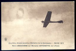 Cpa  Du 51 Reims 2è Gde Semaine Aviation Champagne 1910 René Labouchère Sur Monoplan Antoinette -- Vol Officiel   JM1 - Reims