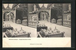 Stereo-AK Bruges, Cheminee, Chapelle Des Dons A Aviote - Stereoskopie