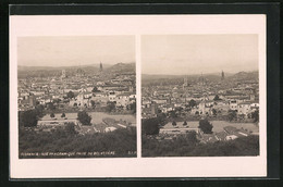 Stereo-AK Florence, Vue Panoramique Prise Du Belvedere - Stereoskopie