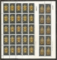 1980 Cipro Cyprus NATALE  CHRISTMAS 25m + 125m (539/41) In Foglio MNH** Sheet - Natale