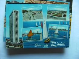 Italië Italy Italien Rimini With Saluti - Rimini