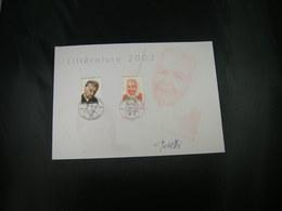 "BELG.2003 3221 & 3222 FDC Philacard(Antw.) Littérature :Gilliams & Yorcennar ""avec Signature Designer Peretti Calistro"" - FDC"