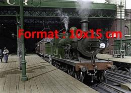 Reproduction D'une Photographie Ancienne D'une Locomotive South Eastern & Chatham Railways En Gare De Charing Cross 1924 - Reproductions