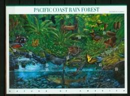 USA United States 2000,10V In Sheetlet,birds,vogels,ois Eaux,vögel,Pacific Coast Rain Forest,MNH/Postfris, (L3466) - Birds