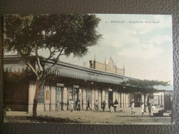 Antique Tarjeta Postal - Peru Perou - Trujillo - Estacion Del Ferro Carril Station Gare Chemin De Fer - Emilio Paredes - Peru