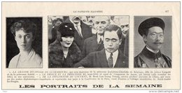 Patriote Illustré 23/10/1927 Grande Duchesse De Luxembourg Princesse Joséphine Charlotte De Belgique JAPon JAPAN Keizer - Wedding