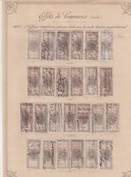 FRANCE : FISCAUX . TYPE ETOILE DE BARRE ET NAPOLEON III . ENTRE N°76 ET N°145 . OBL . - Revenue Stamps