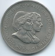 Falkland Islands - Elizabeth II - 1981 - 50 Pence - Prince Charles & Lady Diana Royal Wedding - KM16 - Falkland