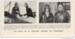 Patriote Illustré 23/10/1927 Héros Traversée Aérienne De L'atlantique Ruth Edler NYork HALDMAN Capitaine Vapeur Hollonda - Wedding