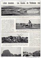 Patriote Illustré 23/10/1927 Asie Inconnue Kazaks Turkestan Russe Attalage Foire Annuelle Rochers Dans La Steppe Lac - Wedding