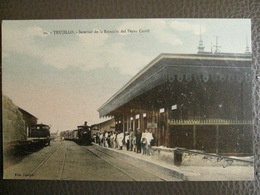 Antique Tarjeta Postal - Peru Perou - Trujillo - Interior De La Estacion Del Ferro Carril Station Gare Railroad - Pérou