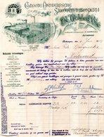 1 Factuur Antwerpen Groote Antwerpsche Stoomkoffiebranderij De Gulden Bie Werversrui C1913 - Belgique
