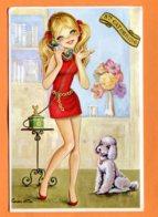 SPR546, Illustrateur, Mode, Caniche, Pudel, Poodle, Phone, Fantaisie, GF, Circulée Sous Enveloppe - Phantasie