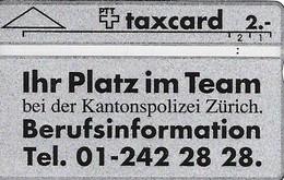 PTT: K-91/34 105F Kantonspolizei Zürich - Schweiz