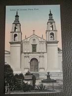 Antique Tarjeta Postal - Peru Perou - Iglesia Del Carmen - Piura - Librería Ramos Montero - Pérou