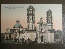 Antique Tarjeta Postal - Peru Perou - Iglesia Del Puerto De Sechura - Piura - Librería Ramos Montero - Peru