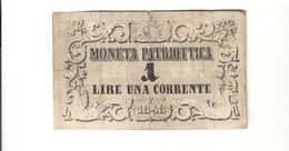 Venezia 1 Lira Moneta Patriottica 1848   LOTTO 1784 - [ 4] Emissioni Provvisorie
