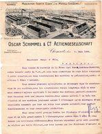 1 Factuur Chemnitz Oscar Schimmel & C° Actiengesellschaft Eisen & Metall -Giesserei  C1906 Tel.n°42 - Deutschland