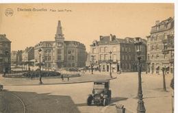 CPA - Belgique - Brussels - Bruxelles - Place Saint-Pierre - Etterbeek