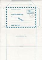 FRANCE - AEROGRAMME  SPECIMEN BLEU CONCORDE 1.60  - CACHET 92 VILLECOURS - CRE -PARIS -EM 11.10.1979  / TBS - Aérogrammes