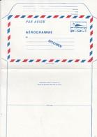 FRANCE - AEROGRAMME  SPECIMEN BLEU CONCORDE 3.30  / TBS - Aérogrammes