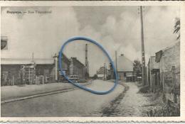 Cpa HUPPAYE 'Ramillies' Rue Fauconval 1959 Vers Caserne Slt Thibaut Flawinne (2 Scans) Pompe Essence BP - Ramillies